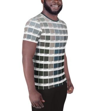Gray Pantone T-shirt for Men / Athletic Short Sleeve