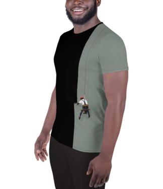 Creative Painter T-shirt / Men's Workout Short Sleeve Top