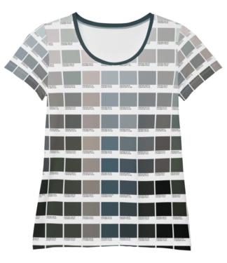 Pantone Gray T-shirt for Women / Athletic Short Sleeve