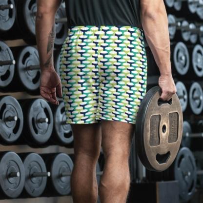 3D Tubes Men's Athletic Shorts Running exercise