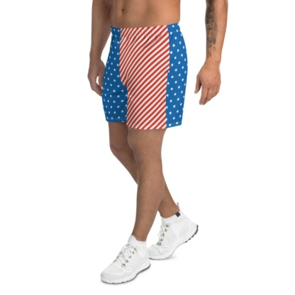 American Flag Men's Athletic Shorts 4th of july patriotic usa