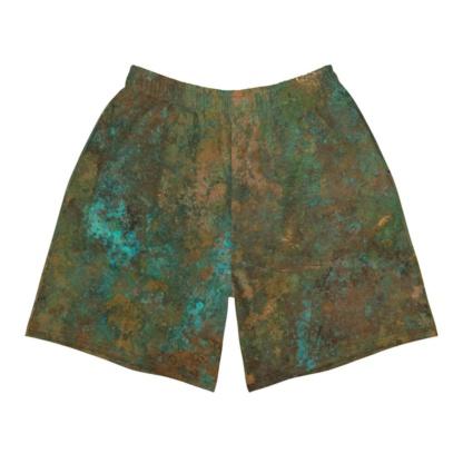Rusty Rust Antique Copper Men's Athletic Shorts