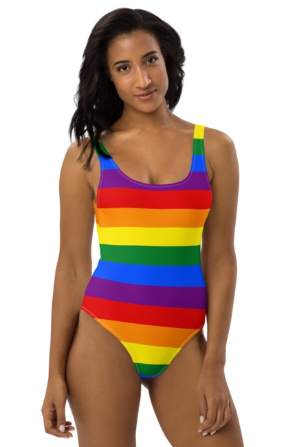 Gay Flag One Piece LGBT Swimsuit