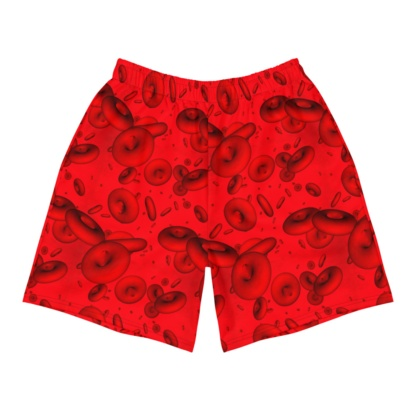 Red Blood Cells Men's Athletic Shorts