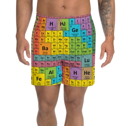 Periodic Table of Elements Men's Athletic Shorts