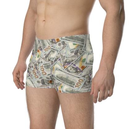 100 Dollar Bills Money Boxer Briefs Underwear