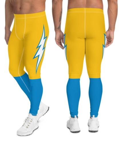 California Los Angeles LA Chargers Uniform Football Leggings for Men