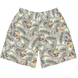 100 Dollar Bills Money shorts men Currency Bling Rich